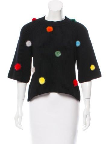 Fendi Mink-Accented Cashmere Sweater None