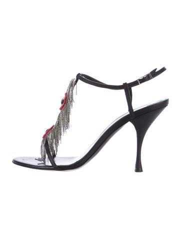 Fendi Chain-Link Fringe Sandals None
