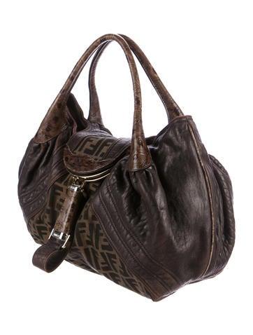 dbeee0659153 ... new arrivals fendi zucca spy bag handbags fen62201 the realreal efe61  018b9