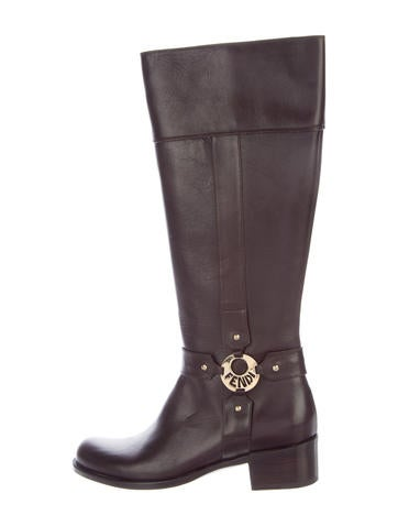 Fendi Leather Riding Boots