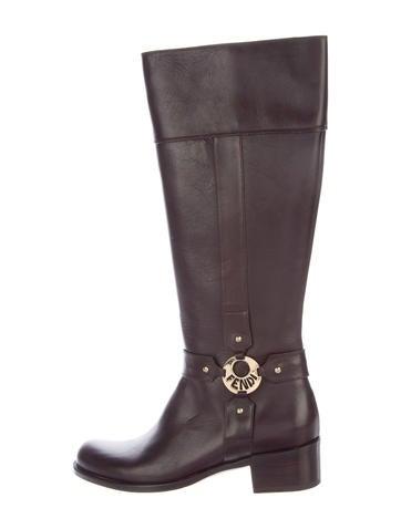 Fendi Leather Riding Boots jdpTlf0uc