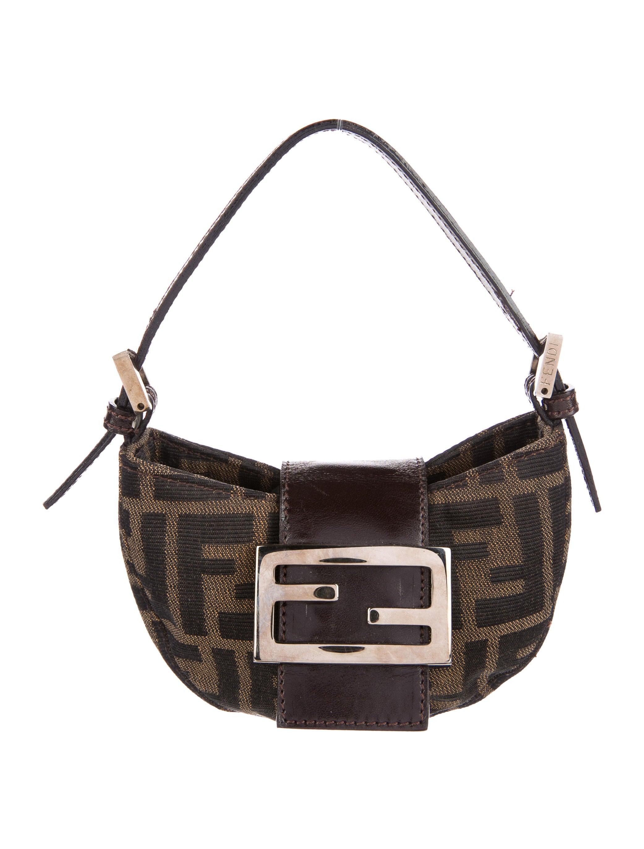 b740cc9d205 Fendi Micro Zucca Baguette Bag - Handbags - FEN62346 | The RealReal