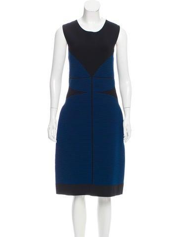 Fendi Ribbed Knit Midi Dress w/ Tags None