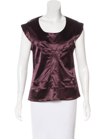 Fendi Satin Sleeveless Top None