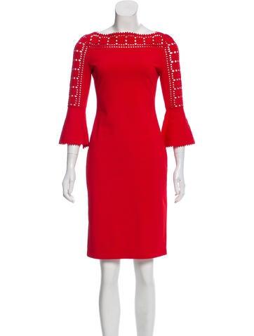 Fendi Long Sleeve Knee-Length Dress None
