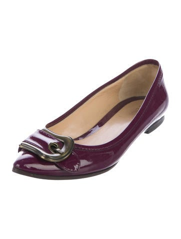 clearance shop offer Fendi Patent Leather Buckle Adorned Flats shipping outlet store online outlet store locations sale online cheap 8HM6NLu