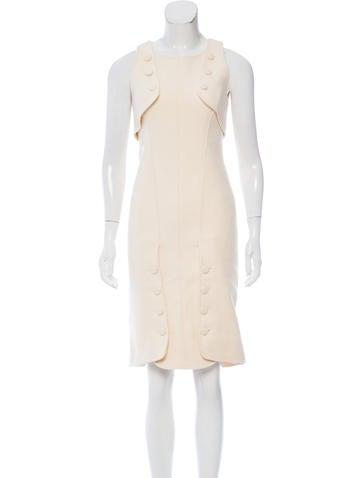 Fendi Sleeveless Wool Dress None