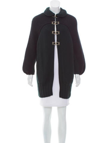 Fendi Wool Longline Cardigan None