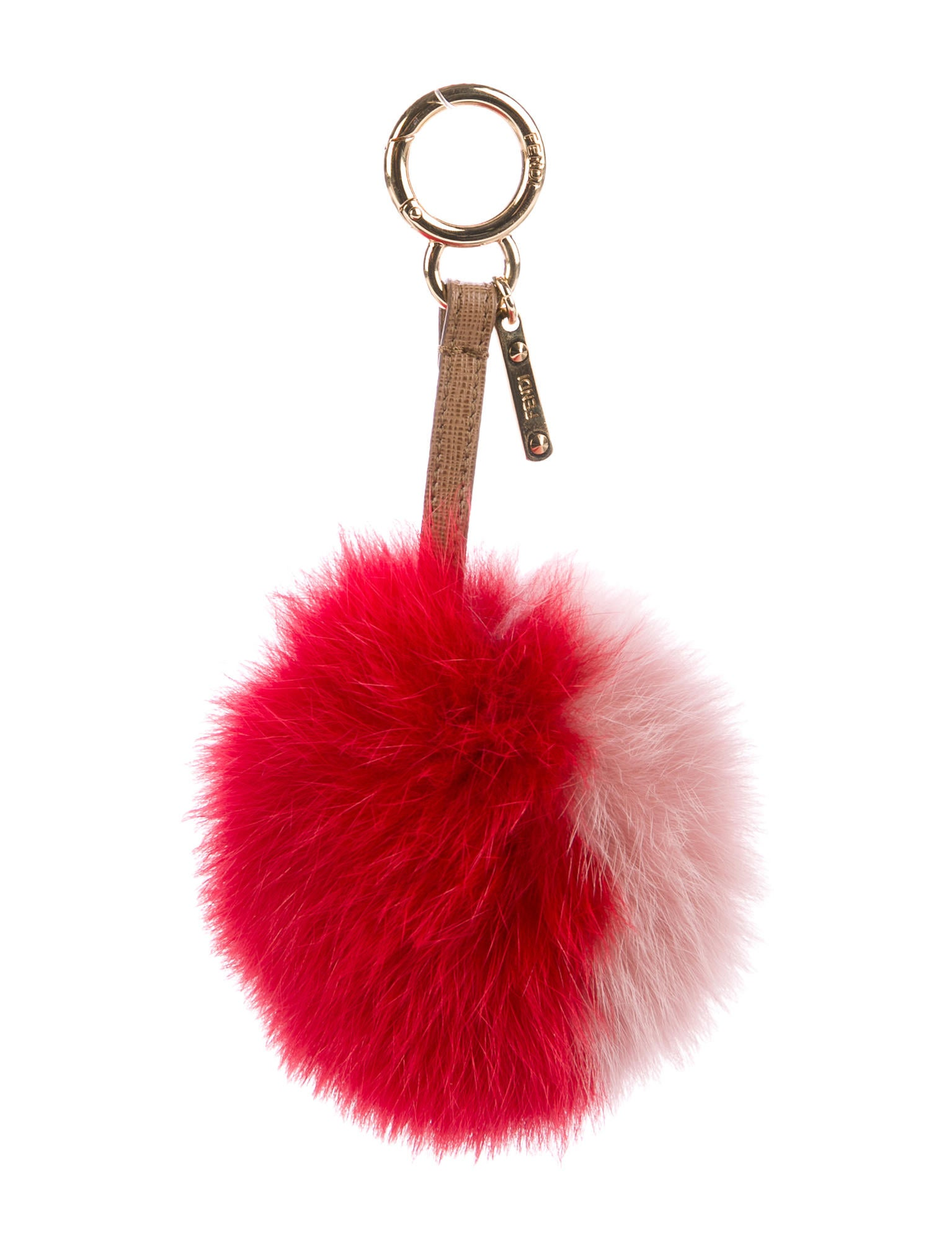fendi fox fur pom pom bag charm accessories fen63833
