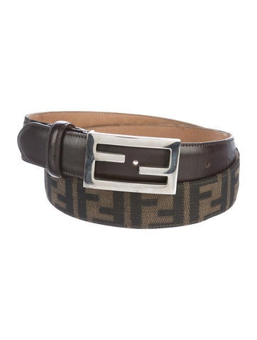 fendi zucca logo belt accessories fen64090 the realreal