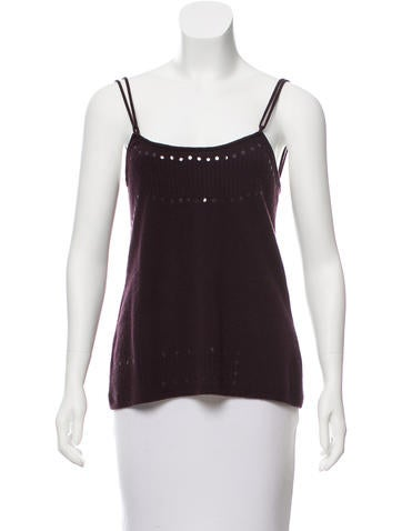 Fendi Wool & Cashmere-Blend Sleeveless Top None