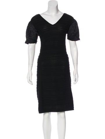 Fendi Rib Knit Midi Dress None