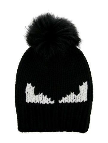 a0f4397d Fendi 2017 Monster Fur-Pom Beanie w/ Tags - Accessories - FEN64504   The  RealReal