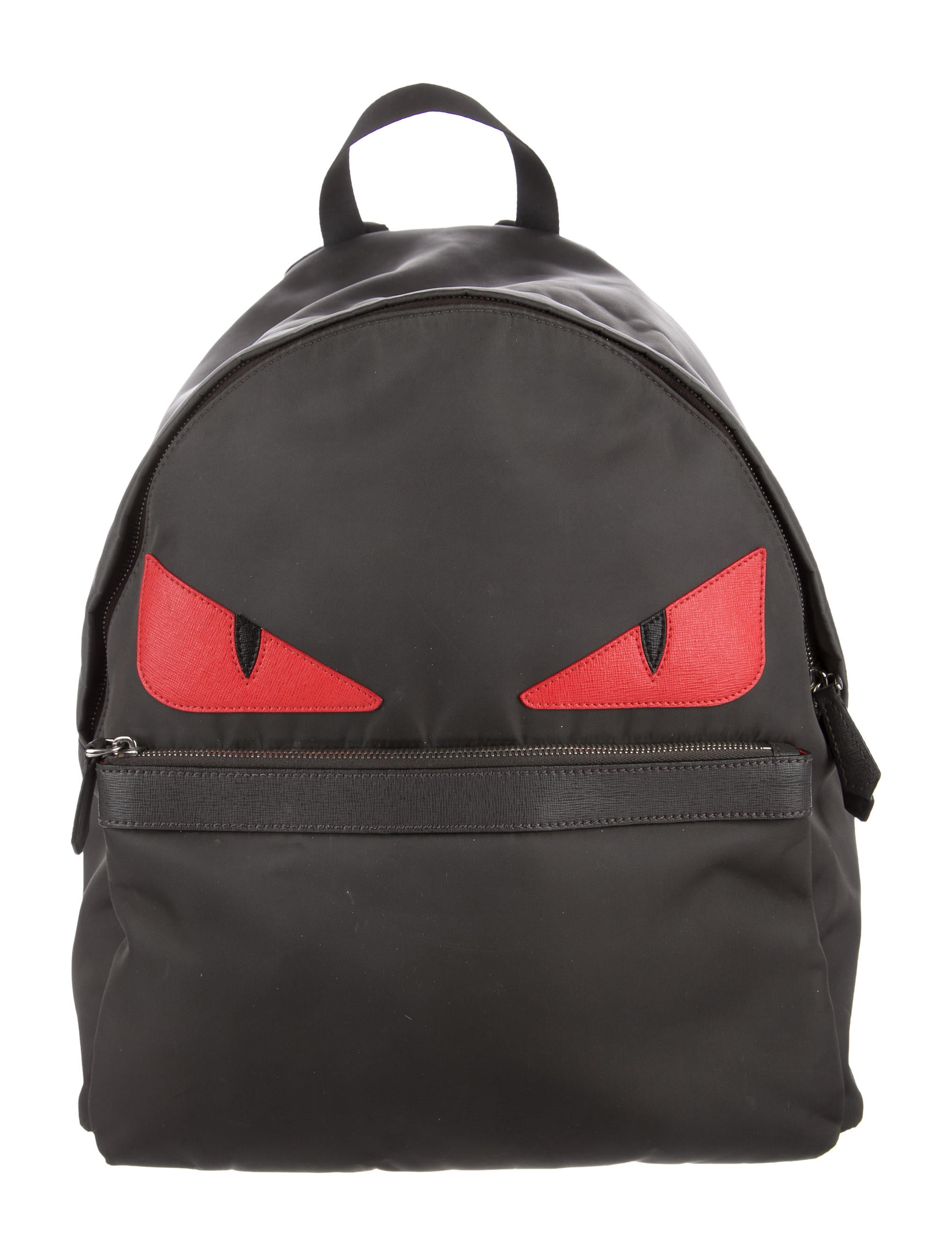 Fendi Monster Leather-Trimmed Backpack - Bags - FEN64954 | The ...