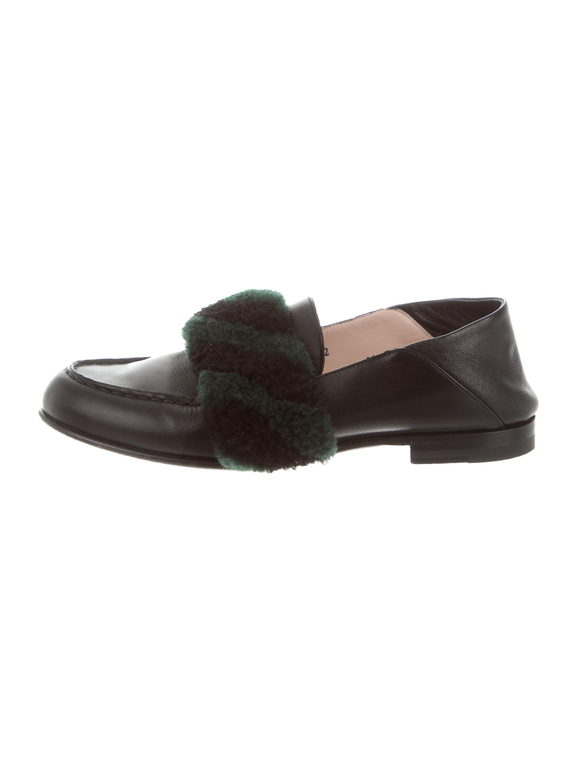Fendi 2017 Fur-Accented Leather Loafers buy cheap recommend iVmGfDJ2