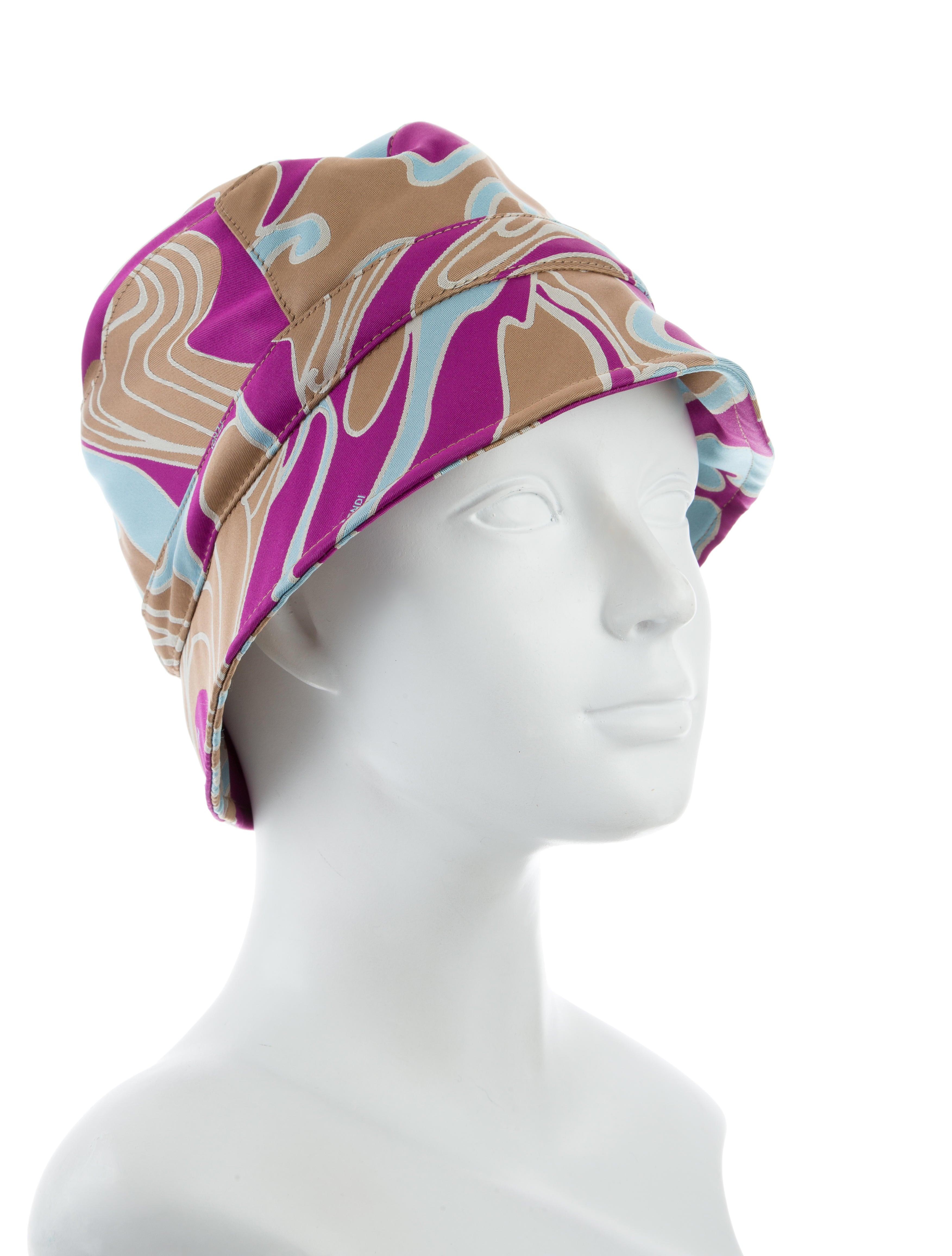 Fendi Patterned Bucket Hat w/ Tags - Accessories ...