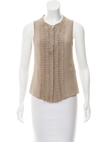 Fendi Silk Sleeveless Top None