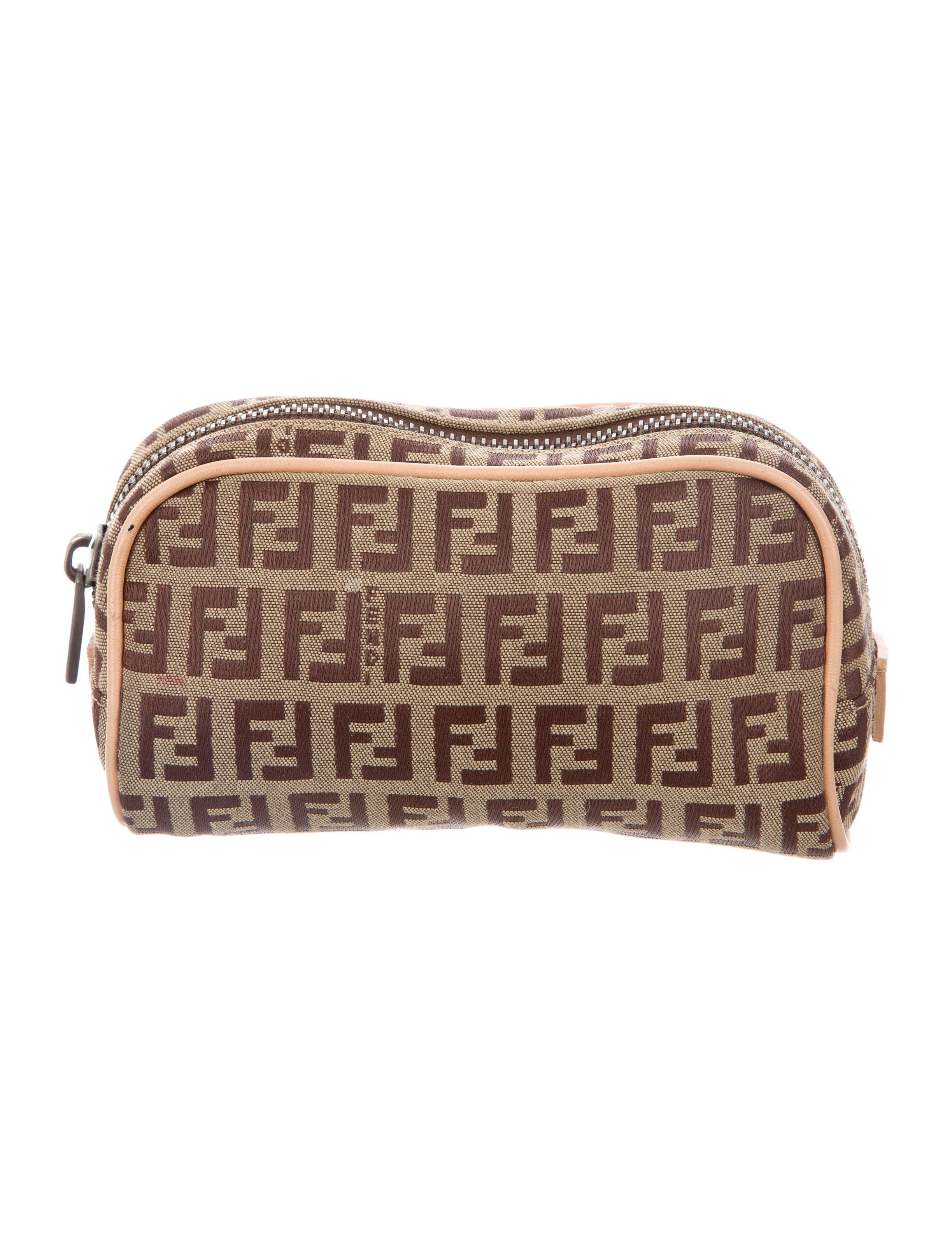 Fendi Zucchino Cosmetic Bag - Accessories - FEN65223  87988bd0212ee