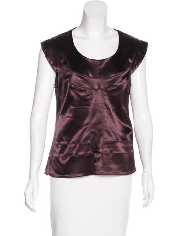 Fendi Sleeveless Satin Top None