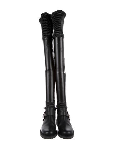 17d94c153fc Fendi Smocked Thigh-High Boots w  Tags - Shoes - FEN65492
