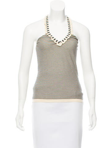 Fendi Striped Halter Top None