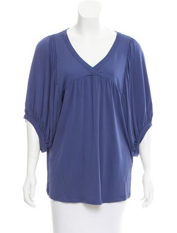 Fendi Gathered Surplice Top None