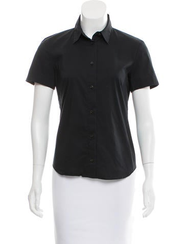 Fendi Collared Button-Up Top None