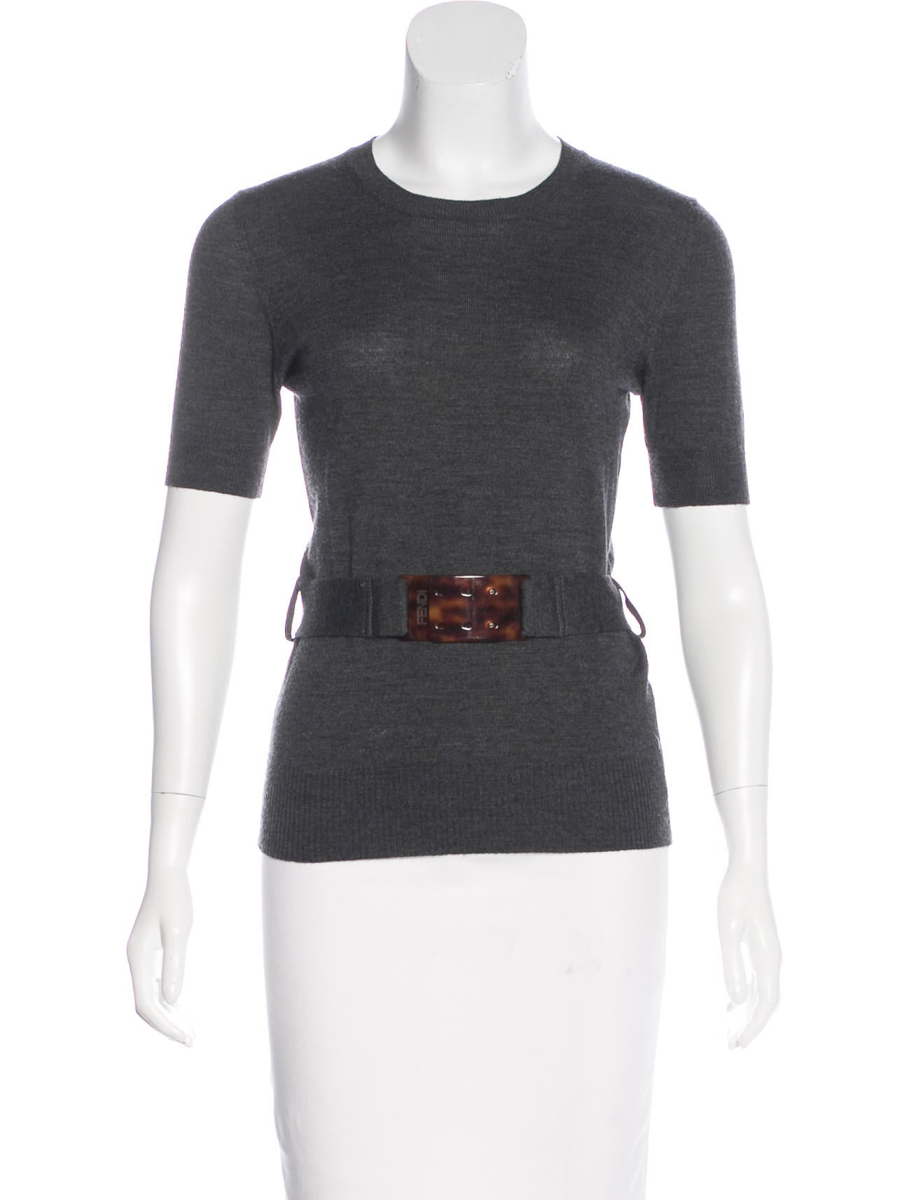 Fendi knit wool top clothing fen66038 the realreal for Best wool shirt jackets