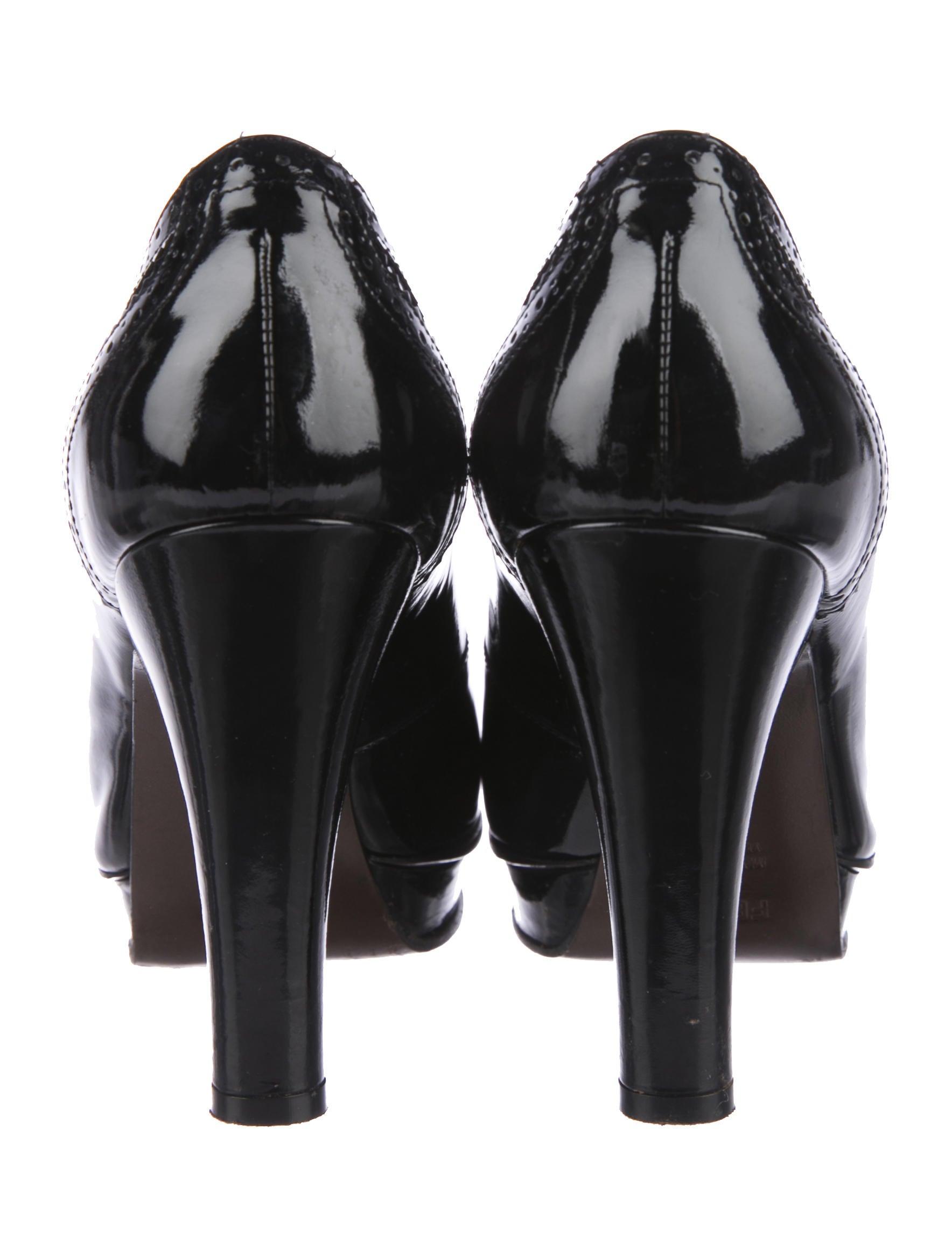 Fendi Brogue Peep-Toe Booties under $60 outlet fashion Style discount explore esgfb
