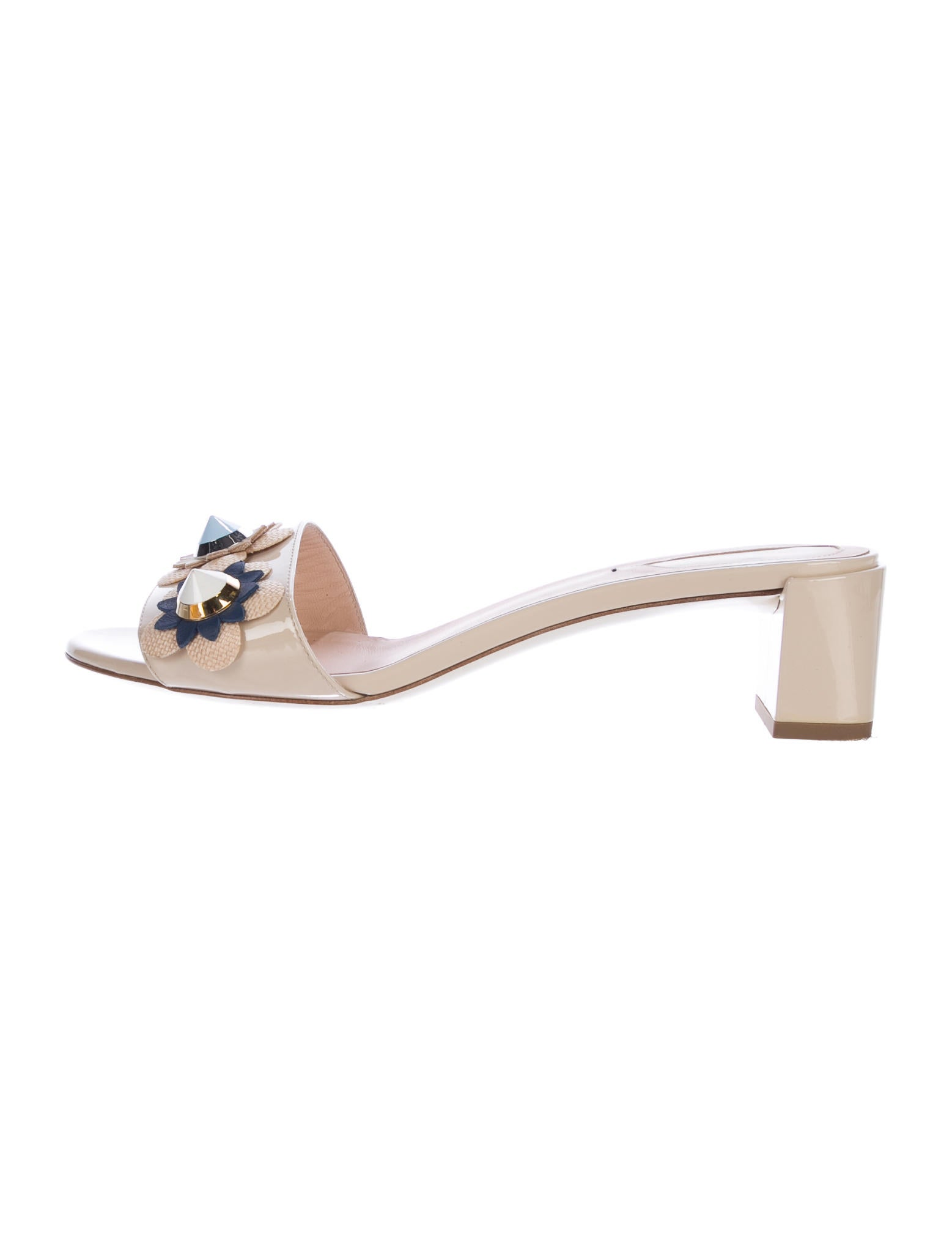 Fendi 2017 Flowerland Slide Sandals discount classic amazon cheap price sale sale online free shipping with credit card where to buy cheap real 1xMsc3Ndc7