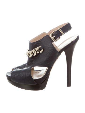 Fendi Chain-Embellished Platform Sandals None