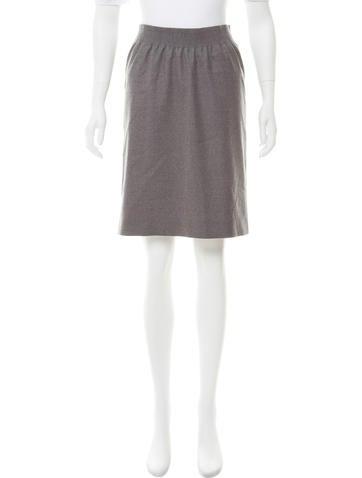 Fendi Wool Knee-Length Skirt None