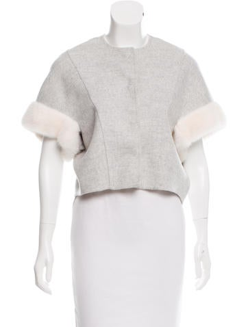 Fendi Cashmere Mink-Trimmed Jacket w/ Tags None
