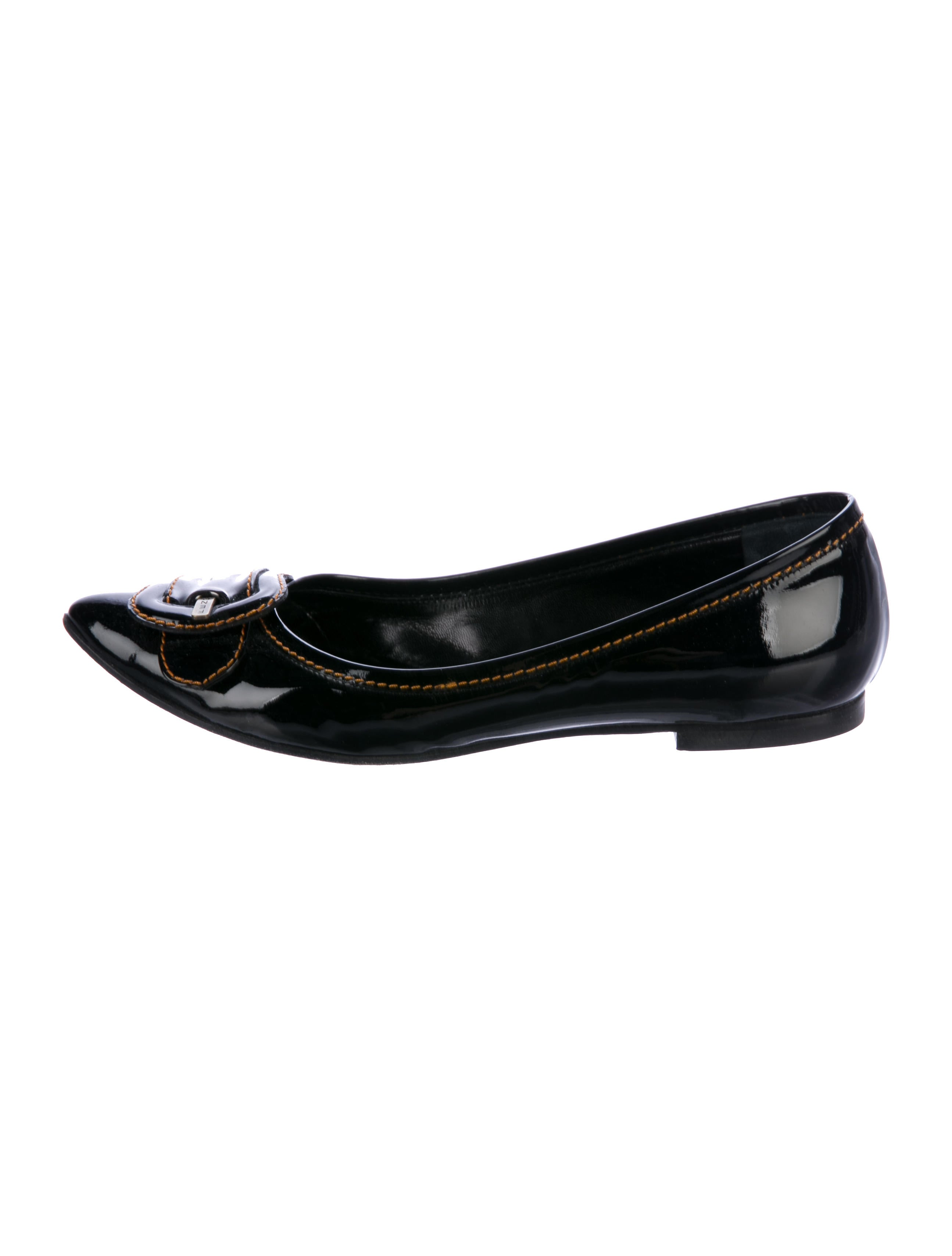 Fendi Patent Leather Pointed-Toe Flats discount 100% guaranteed civTy