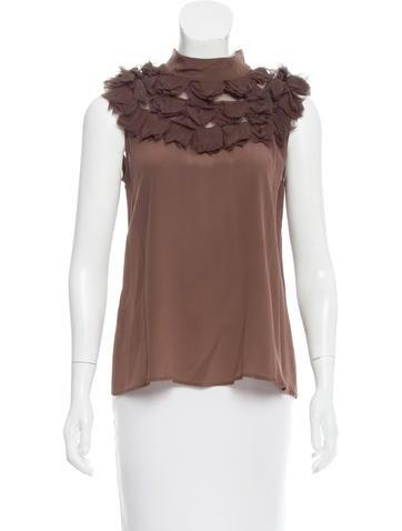 Fendi Sleeveless Silk Top None