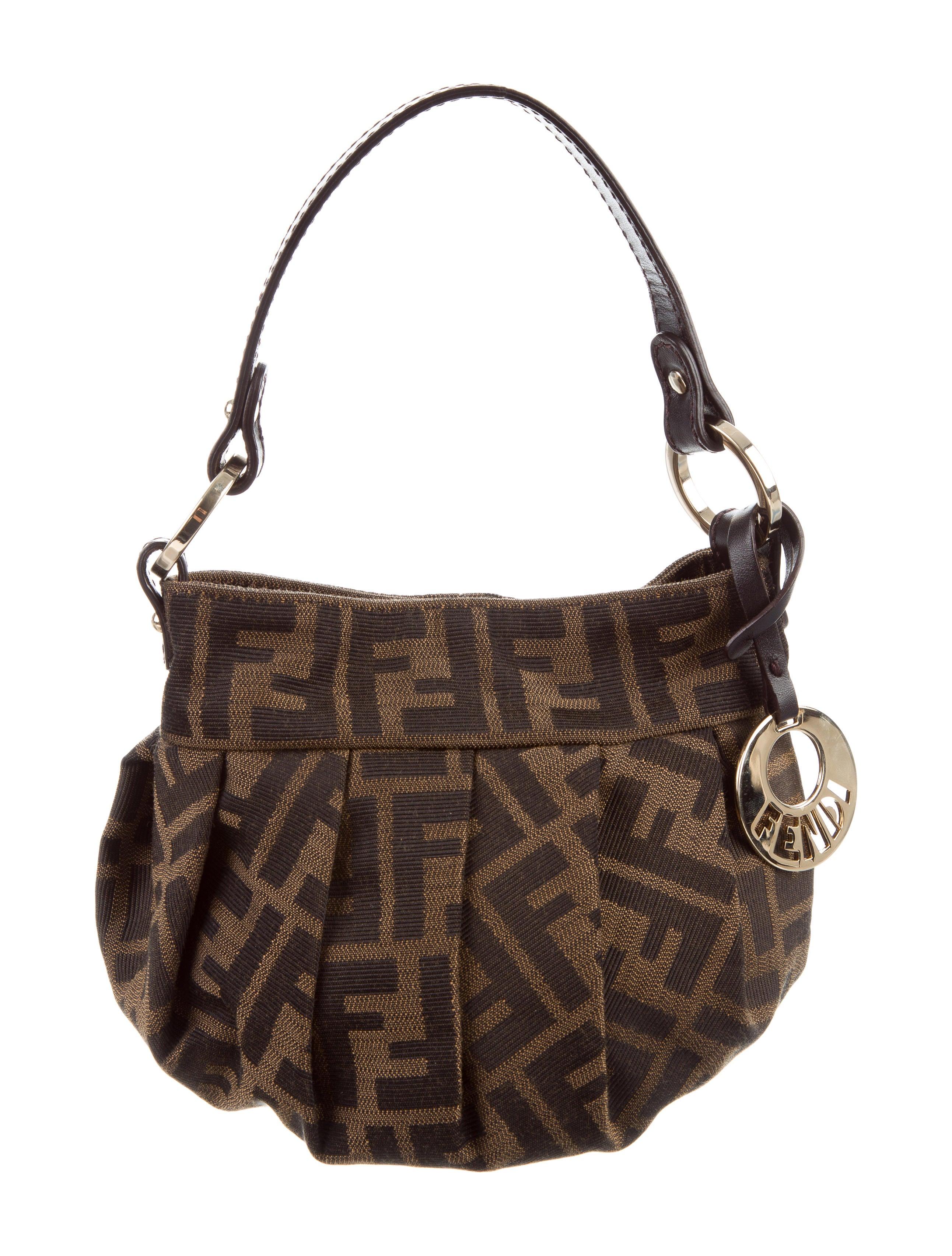 d59fa10757b4 Fendi Zucca Mini Chef Bag - Handbags - FEN67568