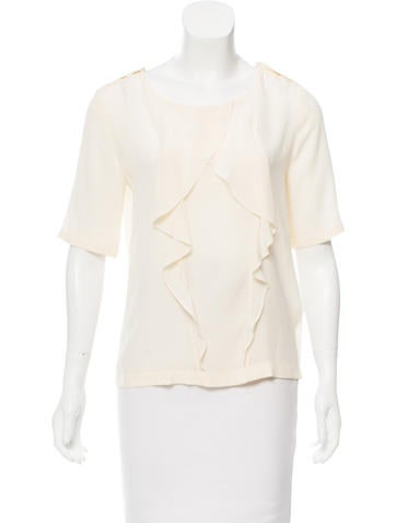 Fendi Silk Ruffle Top None