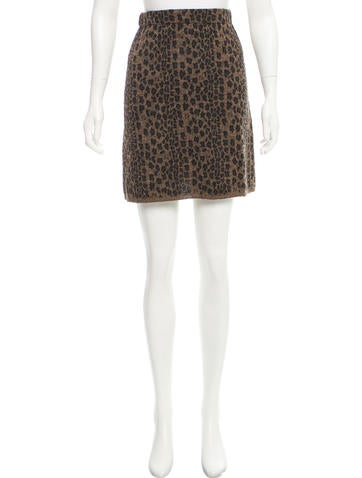 Fendi Leopard Knit Skirt None