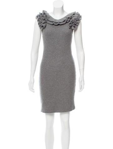 Fendi Ruffled Wool Dress None