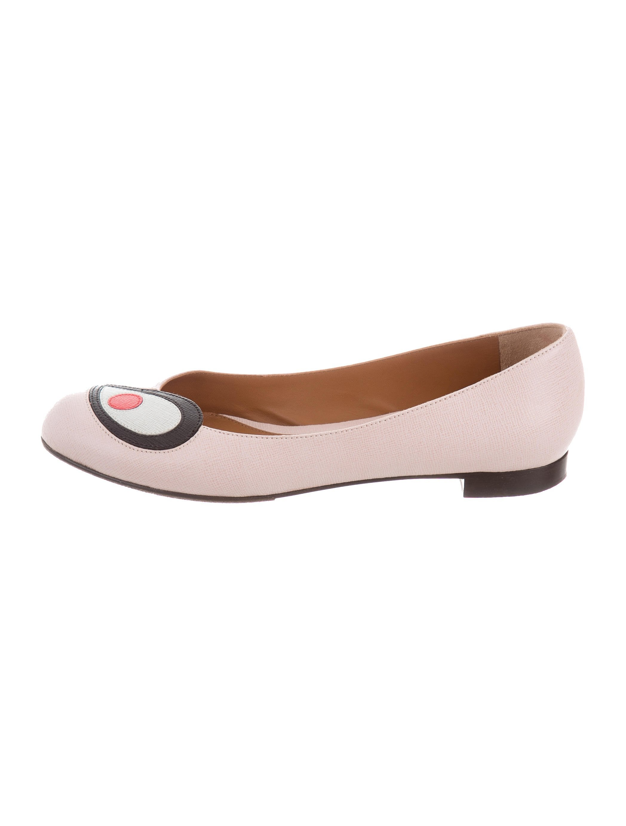 extremely cheap online enjoy for sale Fendi Leather Round-Toe Flats amazon sale looking for buy cheap classic aAxmYu