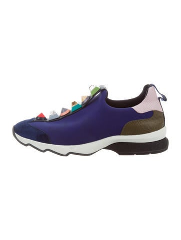 Fendi Studded Rainbow Sneakers None