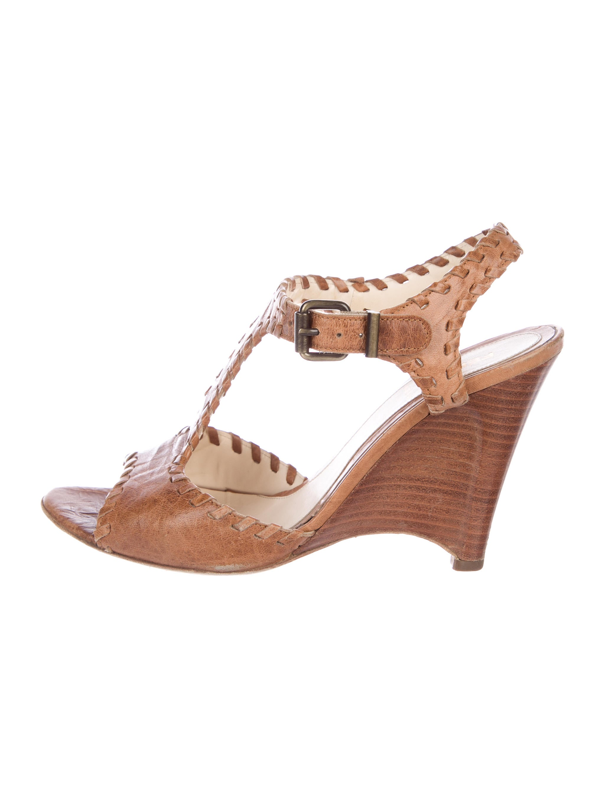 Fendi Leather Cutout Wedges discount price ANX3Ot9