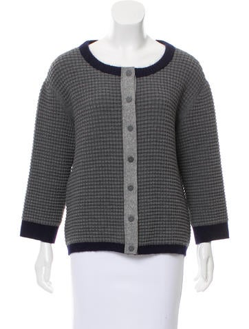 Fendi Wool-Blend Knit Cardigan None