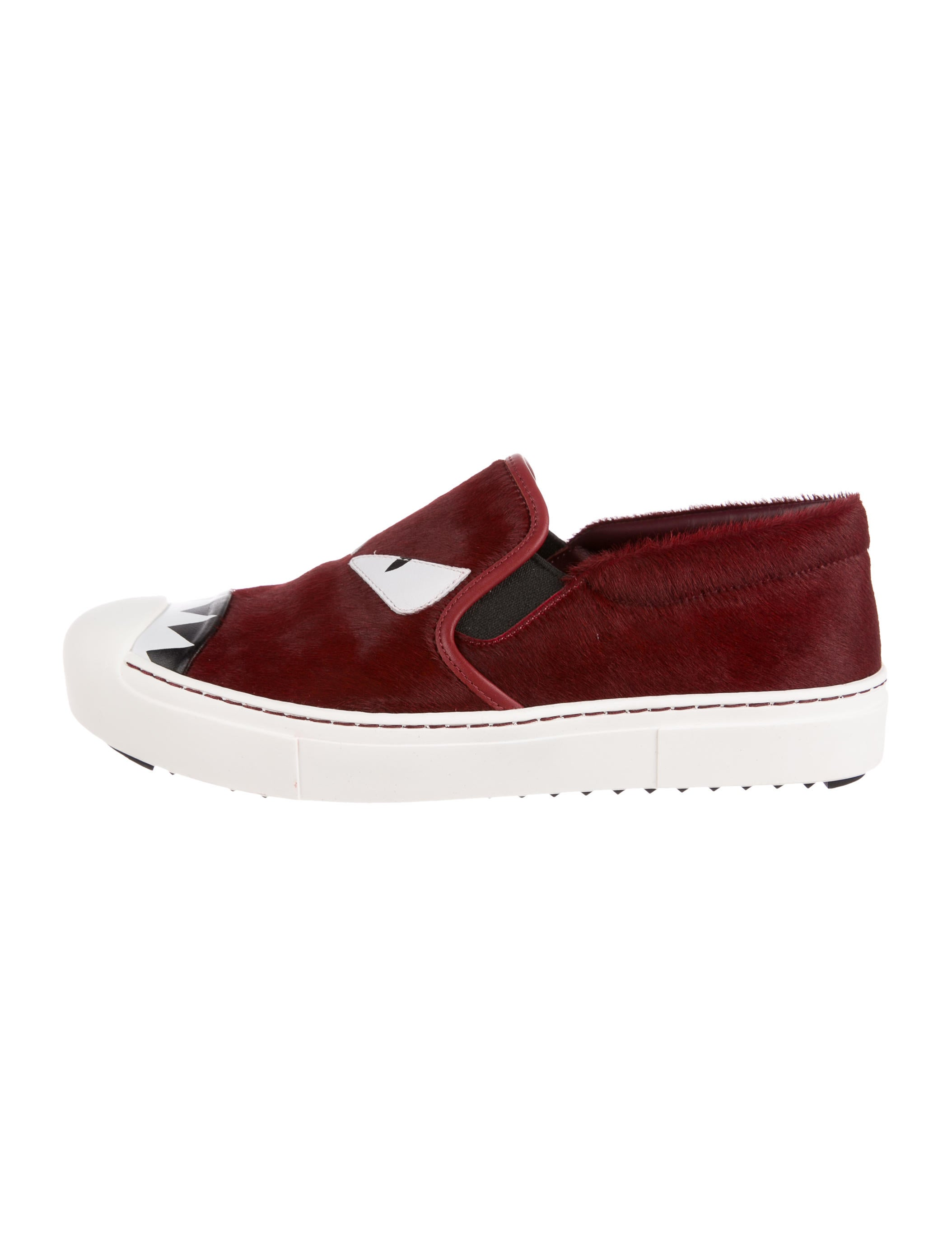 big sale for sale prices cheap online Fendi Ponyhair Slip-On Sneakers AArj40kU