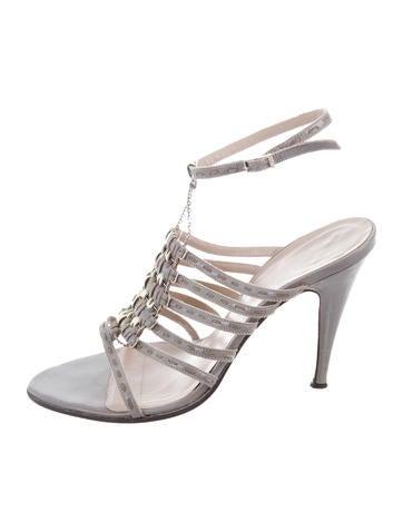 Fendi Patent Leather Multistrap Sandals None