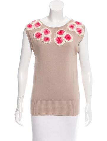 Fendi Embroidered Sleeveless Top None