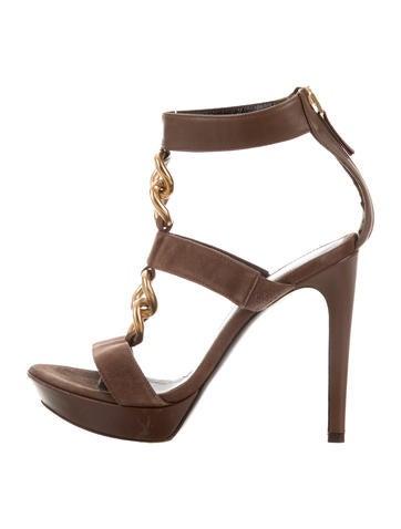 Fendi Chain-Link Platform Sandals None