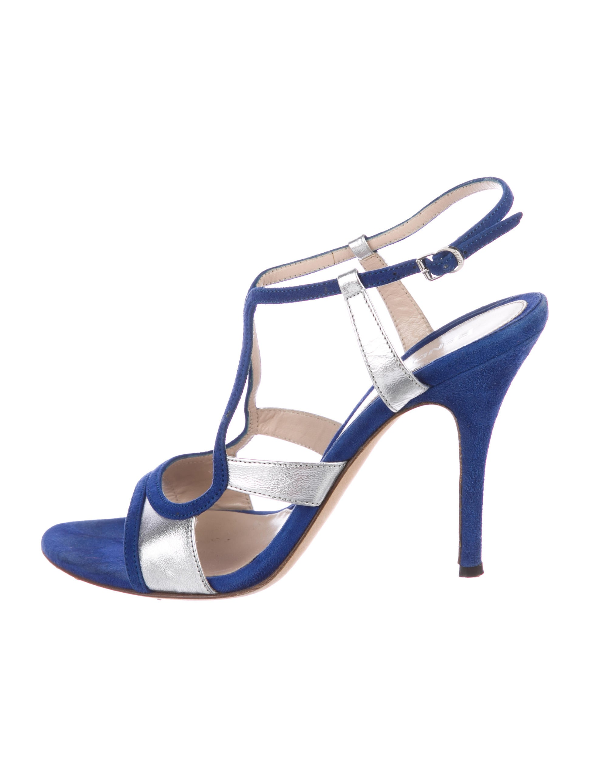 Fendi Suede Multistrap Sandals amazon online qENcM