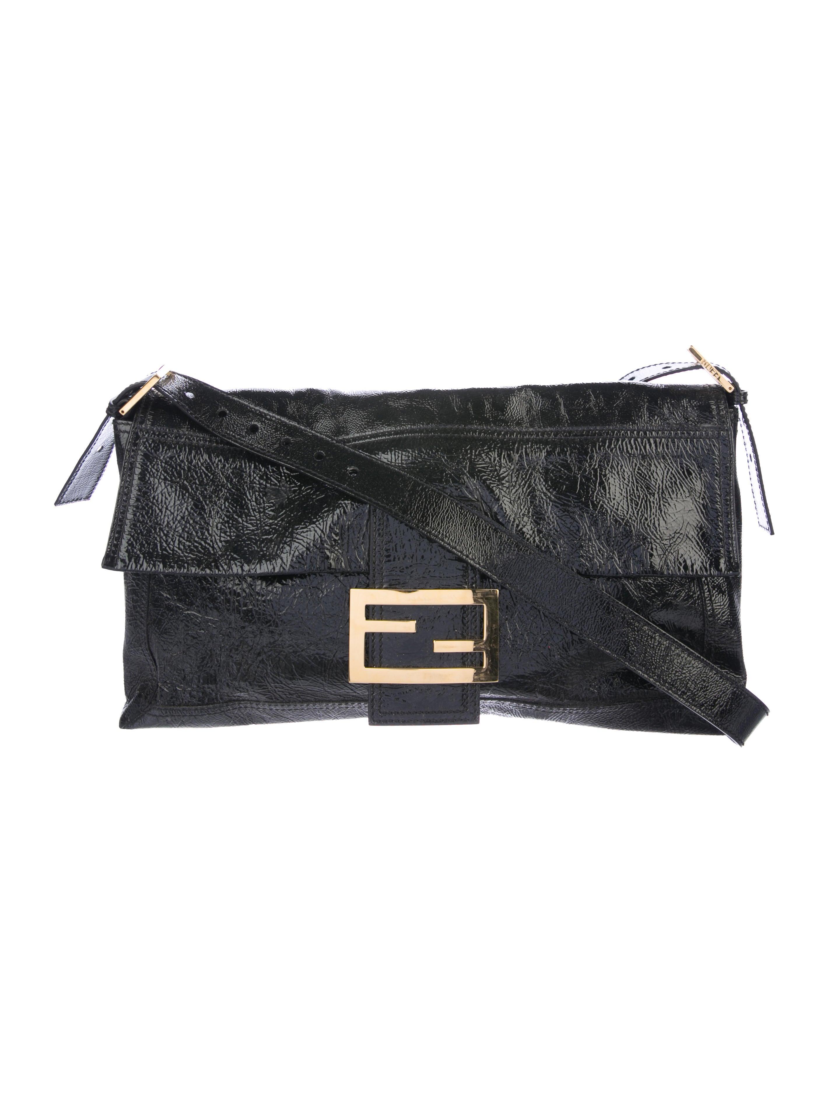 f6afa98abd2e Fendi Patent Leather Messenger Bag - Handbags - FEN70926