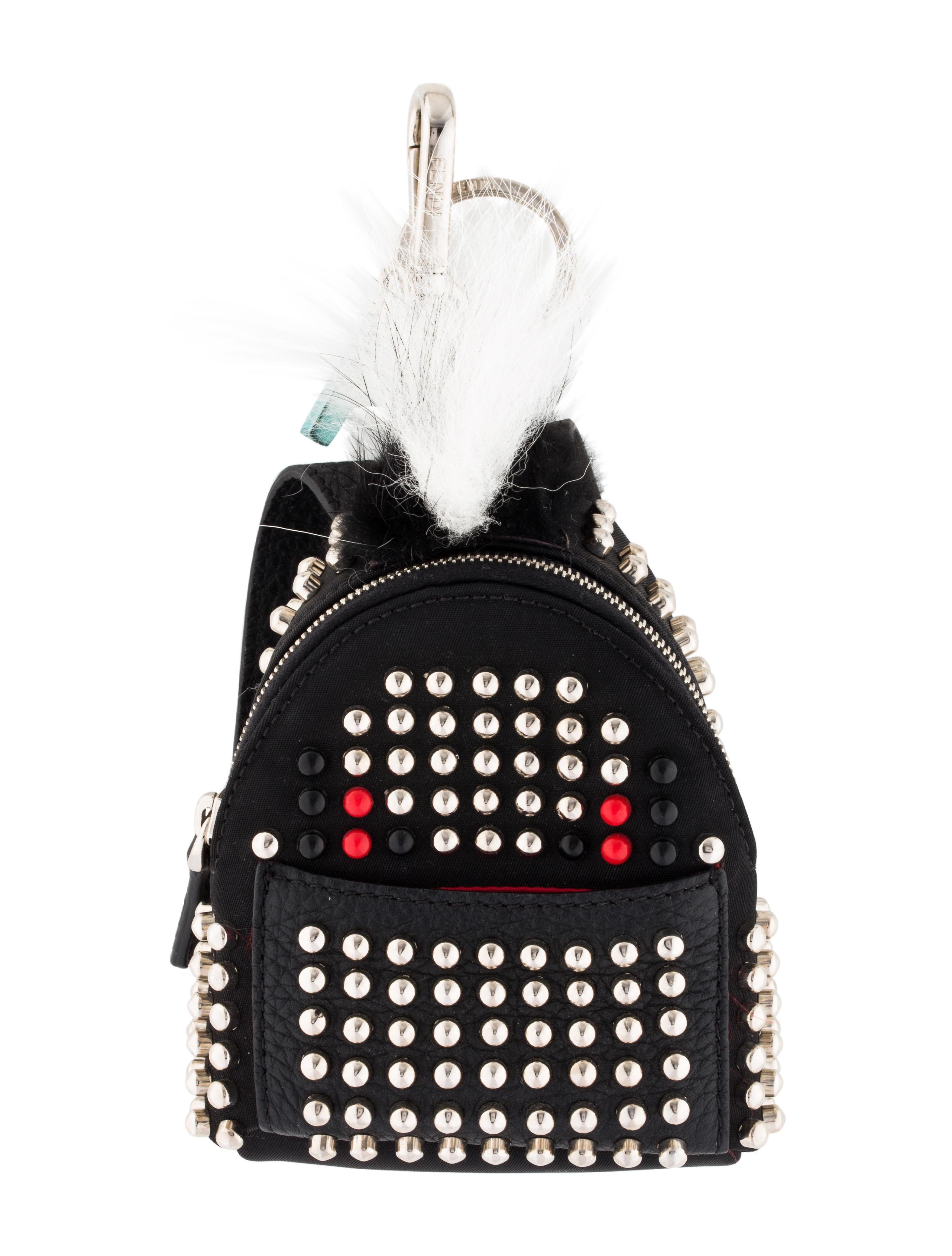 730698229024 Fendi Fur Studded Backpack Monster Bag Bug Charm - Accessories ...